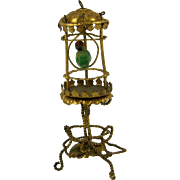 Rare Antique Small Gilded Bird Cage c1890 Erhard & Sohne - for doll's house