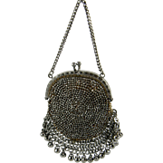 Cut Steel Antique Victorian Coin Purse - perfect for an old doll!