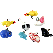 Delightful Teeny Tiny Vintage Glass Bird Charms - for dolls house