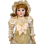 French Antique Bisque Head Doll DEP Jumeau