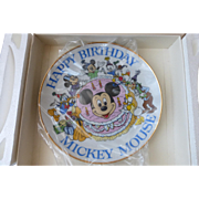 Walt Disney 50th Happy Birthday Mickey Mouse Collectible Plate
