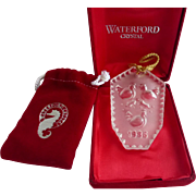 Waterford Crystal Ornament Twelve Days of Christmas Series Three French Hens 1986, Box Pouch