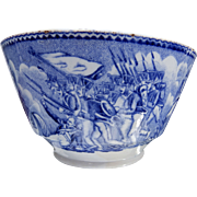An extremely rare Antique blue and white transferware Napoleon propaganda Commemorative Bowl C