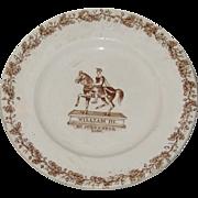 Antique English Pottery : A rare Staffordshire William III No Surrender Irish political ...