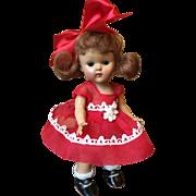 Vintage Vogue Strung Ginny Doll, Kindergarten Kay, 1953, CS Shoes