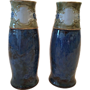 Beautiful Pair of Royal Doulton Vases Circa 1925 Ethel Beard Signed