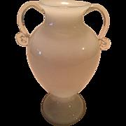 SALE Beautiful Kralik Czech Bohemian White Opaline Vase Signed ca. 1930