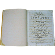 c. 1806 Six Sonets a Violon by Giuseppe Haydn for William Forester Music Sheet