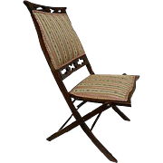 French Napoleon III Lady's Folding Chair Deck Chair