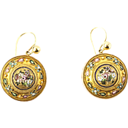 A Fine Pair of Italian Micro-mosaic Earrings
