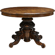 SALE Vintage Italian Patch Circular Top Dining Table