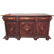 SALE Elegant 19th Century French Louis XIII Carved Desk