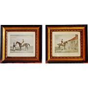 Framed Victorian Hunting and Horse Engravings