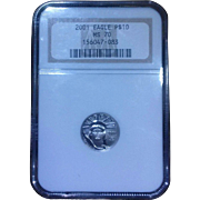 SALE 2001 NGC Perfect MS70 $10 Platinum Eagle!