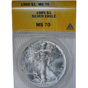 SALE 1986 Silver American Eagle Graded MS-70 ANACS!