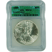 SALE $4,850.00 Coin? 1986 ICG Perfect MS70 $1 Silver Eagle!!