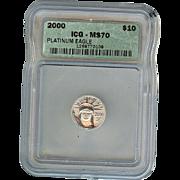 SALE $4,000.00 Coin! 2000 ICG Perfect MS70 $10 Platinum Eagle!!