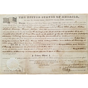 1860 Land Grant Signed President James Buchanan!