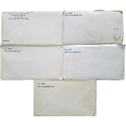 Five (5) 1972 to 1976 Mint Sets! Cello Sealed! Envelopes Opened!