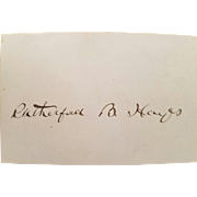 President Rutherford B. Hayes Signed Autograph with COA!