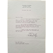 SALE President Richard Nixon Typed Letter Signed Autograph!