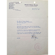 SALE President Harry S. Truman Typed Letter Signed with COA!