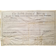 SALE President Millard Fillmore Signed Land Grant Document!