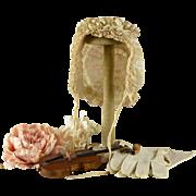 French Antique Bonnet for Bru, Jumeau, Steiner