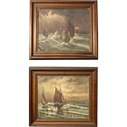 20th Century Pair of French Paintings