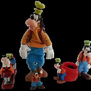 Vintage Lot of Disney Goofy Figures