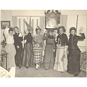 Ladies Dressed in Costumes Vintage Photograph Theatrical Group of Women 1940s Photo