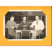 Men sitting at a Table Jake's Cowshed Oklahoma City Suits Ties 1950s