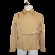 Western Shirt Bib Front Cavalry Fenton Western Shirt Vintage