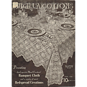 Bucilla Cottons Volume 106 Exquisite Hand Crocheted Bedspreads Banquet Cloths Crochet Book 193