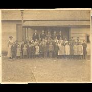 School Photo Children Teacher Men Large Cabinet Card Photo early 1900s