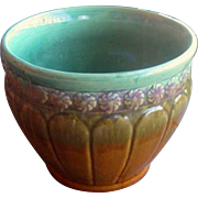 Vintage Pottery Jardiniere, Planter, Vase, Majolica Pottery, Possibly Brush McCoy, Circa 1920s