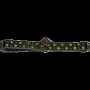 1920's Art Deco Sterling Silver Diamonbar Buckle Bracelet