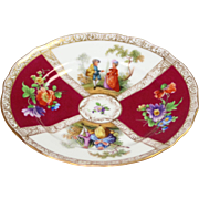 Small, 6 inch Dresden Plate; Antique, ca. 1910