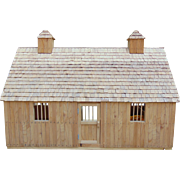 Breyer horse barn with some accessories