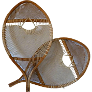 Pair of Child's 19th Century Bear paw Snowshoes