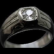 REDUCED Vintage 1930's 18K W/G Old European Cut Diamond Ring
