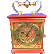 Vintage Mantle Clock Swiss Made Luxor Le Locle – Switzerland 20th Century