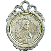Vintage Silver Medal of Saint Therese – Italy 20th Century