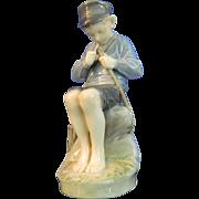 Vintage Hand Painted Royal Copenhagen Porcelain Figurine – Fisher Boy – Denmark 20th ...