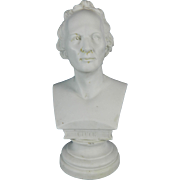 Antique Parian or Biscuit Porcelain Bust of German Composer Gluck – France 19th Century