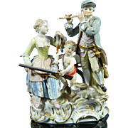 Antique Hand Painted Meissen Porcelain Figurine Set – Germany 19th Century