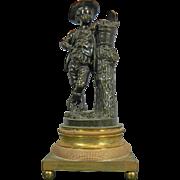 Antique Empire Style Bronze Empire Style Figurine – Peasant Boy – France 19th Century