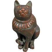 Vintage Netsuke Figurine of a Cat – Japan 20th Century