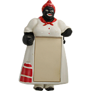 "1950's Aunt Jemima Kitschy Plastic Note Pad Holder #123 ""Mammy Memo"""