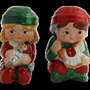 1983 AVON Christmas Elf Salt & Pepper Shakers
